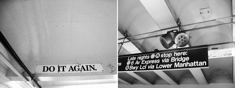 signs at subway