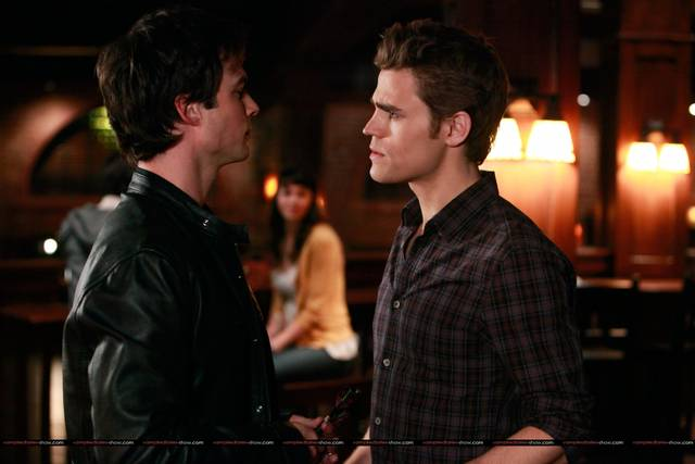 vampire diaries damon and stefan. hot damon amp; elena vampire