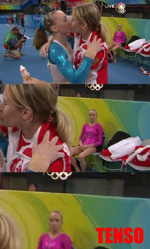 Beijo Lesbico das Atletas