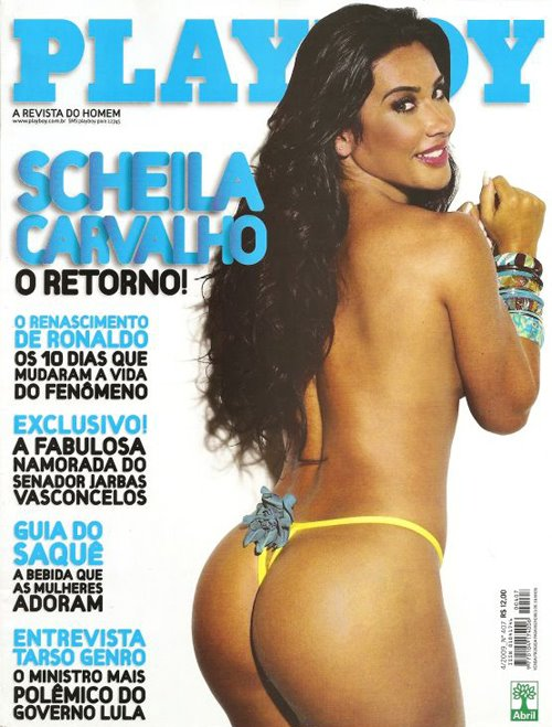 Playboy de Abril - Scheila Carvalho