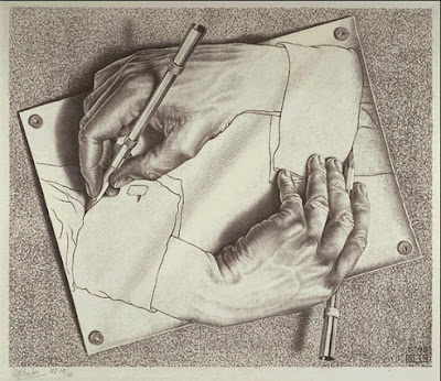 Escher,Drawing hands, 1948