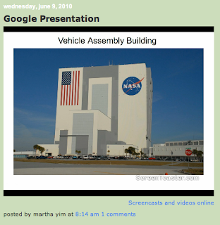 Martha Yim's Google Presentation on the Kennedy Space Center