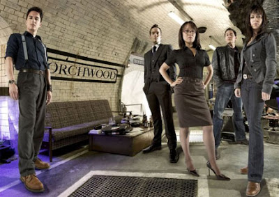 Torchwood at their secret underground station in Wales