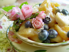 Fruit Salad with Roses