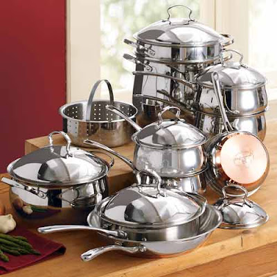 Linens 'n Things  Stainless Steel Cookware Set