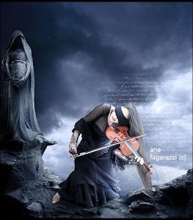 Скрипачка у ног смерти.