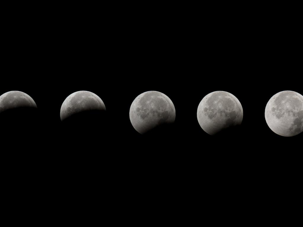 Le fasi dell 39 eclisse lunare immagini e sfondi per ogni for Sfondi bianco e nero tumblr