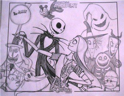 Nightmare Before Christmas Drawings