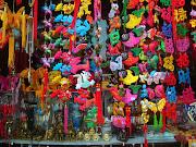 Colorful Souvenirs for Sale. Beijing, 2007