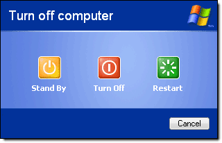 Shutdown computer when not in use - Use less electricity - Image courtesy of http://1.bp.blogspot.com/__vv8Dj0dTME/ScZaA-BxZvI/AAAAAAAAAgM/at6nXyrgonQ/s400/shutdown-computer.png