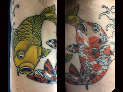 Infinity tattoo designs red fish arm tattoo for Red fish tattoo