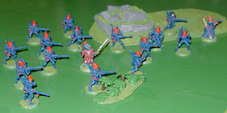 The Eldar forces, arrayed for their desperate defense