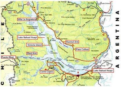 Map Lake Nahuel Huapi