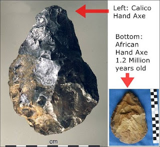 erectus hand axes Calico and African