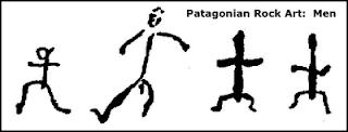 Patagonian rock art human figures