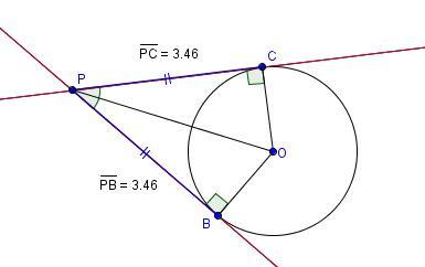 Matematicamedie tangenti a una circonferenza propriet for Punto p esterno alla circonferenza