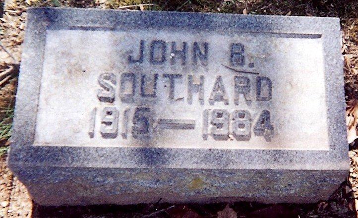 John Blackburn Southard Sr's stone