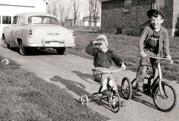We're off for a trike ride on a pretty afternoon.