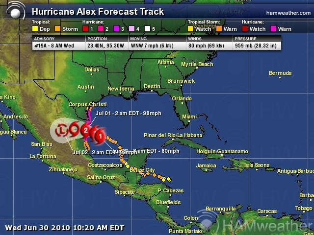 mountain seer tracking hurricane alex amp the bp gulf oil
