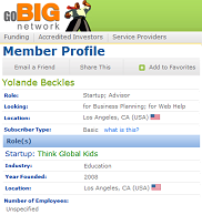 Yolande Beckles registers her new company