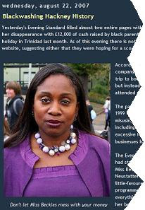 The spoof blog post on the Yolande Beckles exposé