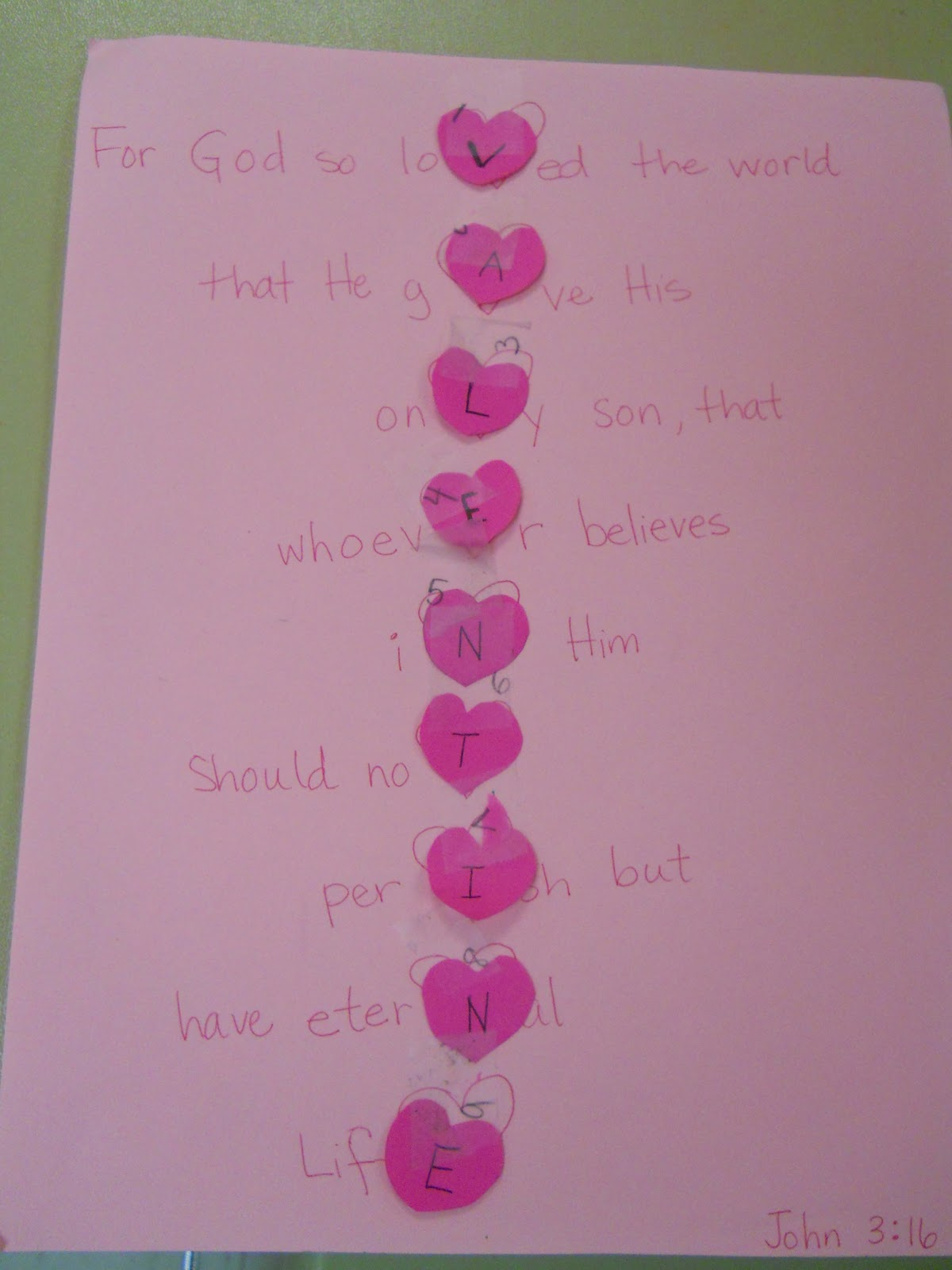 A Slice of Smith Life: We {Heart} Jesus and Valentine Crafts