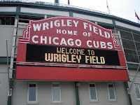 Jason and my dad went to Wrigley Field.  Gum has brought much good to the world.  I was at Flicka's.