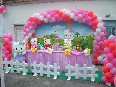 decoração de festas com balão