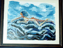 Mujer surcando el mar.