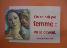 No se nace MUJER, uno llega a serlo... SImone de Beauvoir