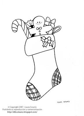 Dibujos para imprimir colorear y pintar de navidad dibujo for Adornos navidenos para dibujar