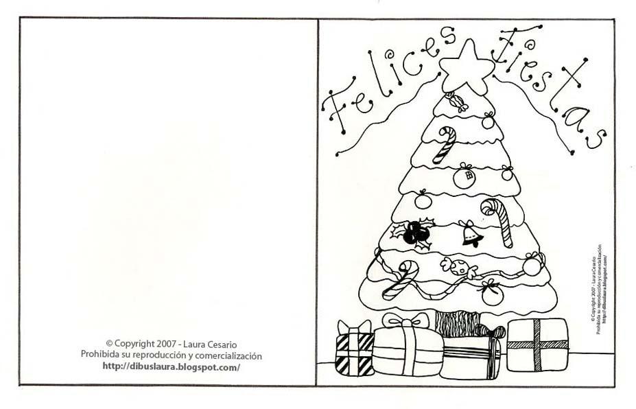 Tarjetas de Navidad para imprimir y colorear: Tarjeta de Navidad ...