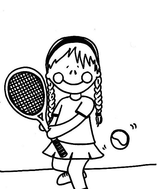 Magnífico Cancha De Tenis Para Colorear Colección - Ideas Para ...