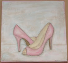 Painting Vintage Pink Prom Shoes