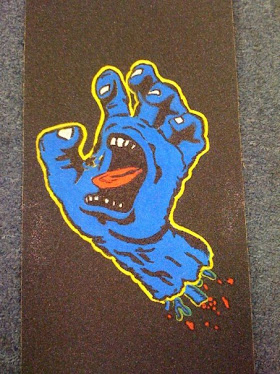 screaming hand on griptape