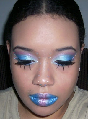 Featured Faces: Halloween makeup Blue fairy - Blue Halloween Makeup