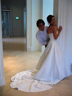 Fiona Xie in wedding gown, looking gorgeous