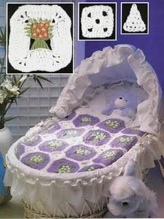 Copertine ad Uncinetto: copertina uncinetto neonato per esperte