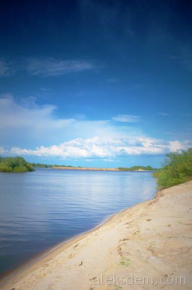 ока лето пейзаж берег рыбалка пляж