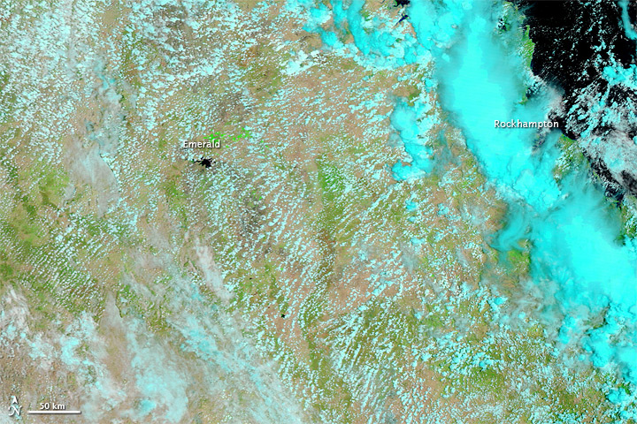 satellite map of queensland floods