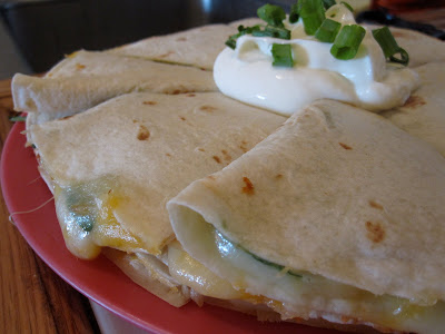 Spinach & 4-Cheese Quesadillas