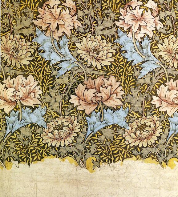william morris wallpapers. Illustration: William Morris.