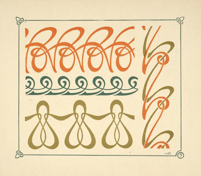 art nouveau patterns. house pattern element art