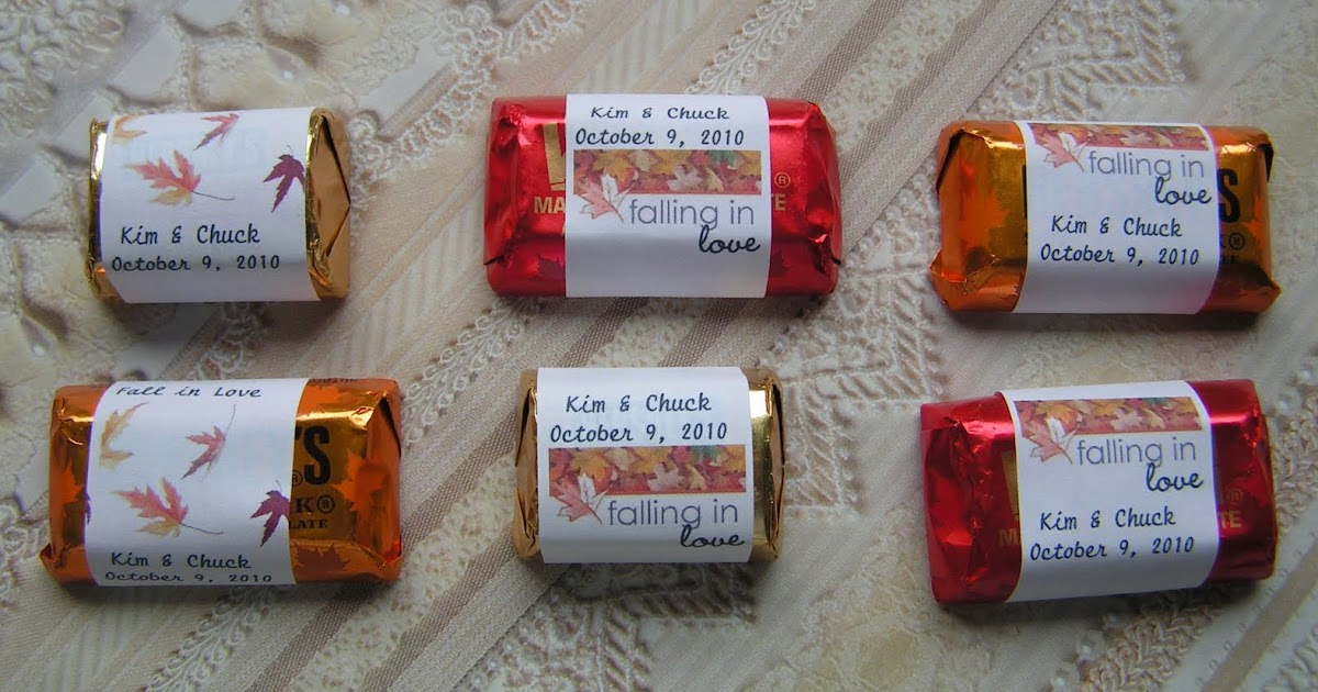 Lazy Days And Sundays Candy Wrappers Using Avery Labels