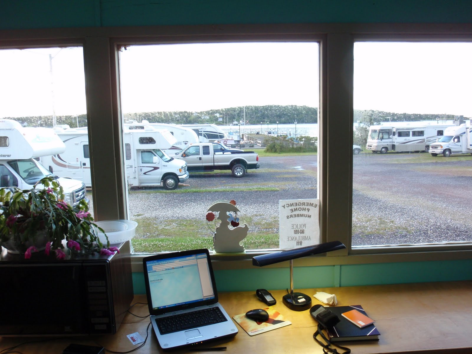 The Remainder Of Saturday Was Spent At Command Center Photo Left Overlooking Wharves And Louisbourg Motorhome RV Park Located Right On
