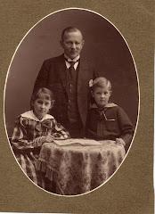 Carl V. Lange med Grethe og Kjeld 28.januar 1918