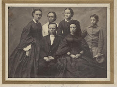 Carl August Restorff Schack og Anna Catharina Christensen med børn i 1864