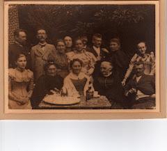 Louise Ipsens 70 års fødselsdag 1892, Bertel ses yderst til venstre