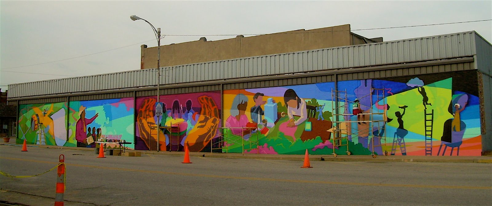 The mid america mural project tonkawa behind the scenes ii for Community mural project