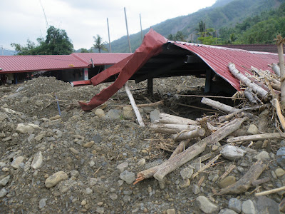 Figure 2: A home destoyed because of a debris flow landslide